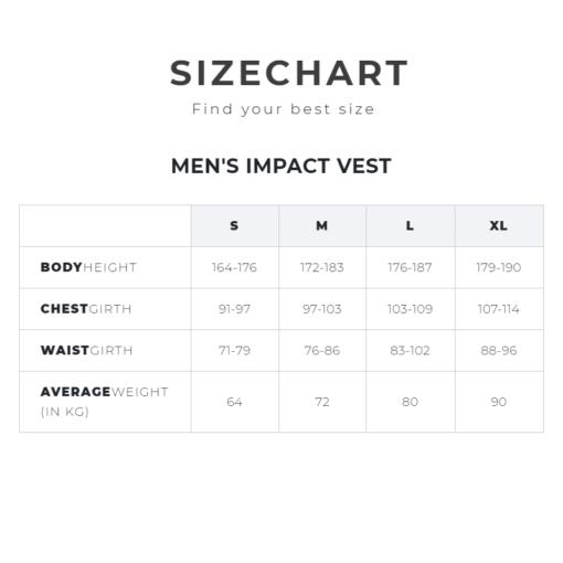 Manera Size Chart Impact Vest
