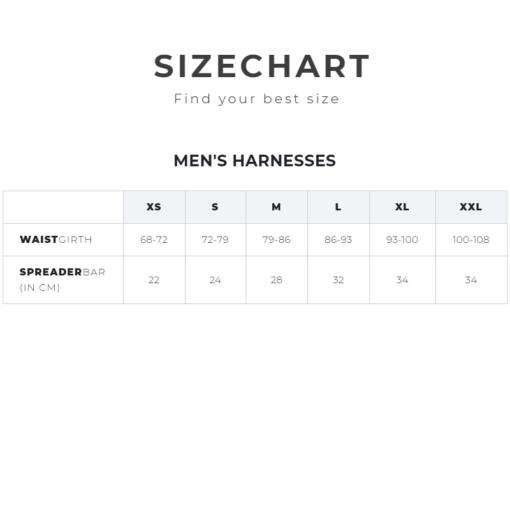 Manera Size chart Harness