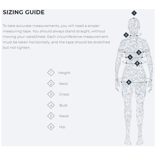 Manera Size Guide Women