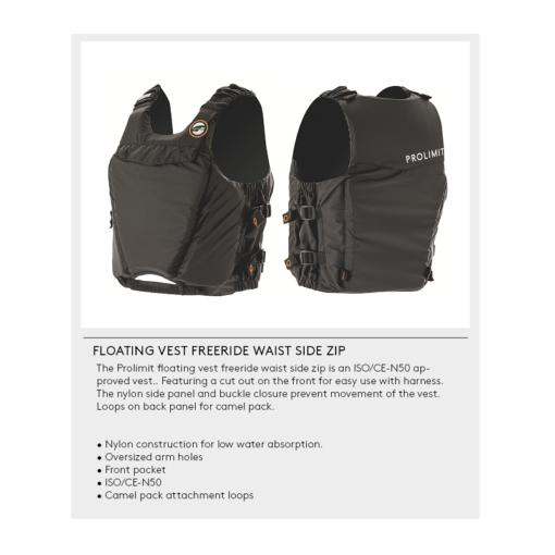 Prolimit Floating Vest Freeride Waist side zip spec