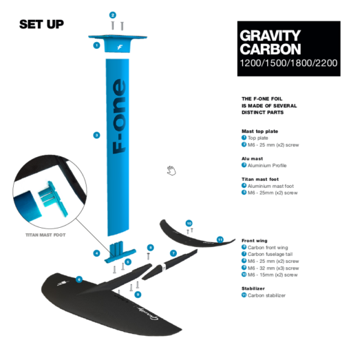 F-ONE-GRAVITY-hydrofoil-CARBON-SET-UP